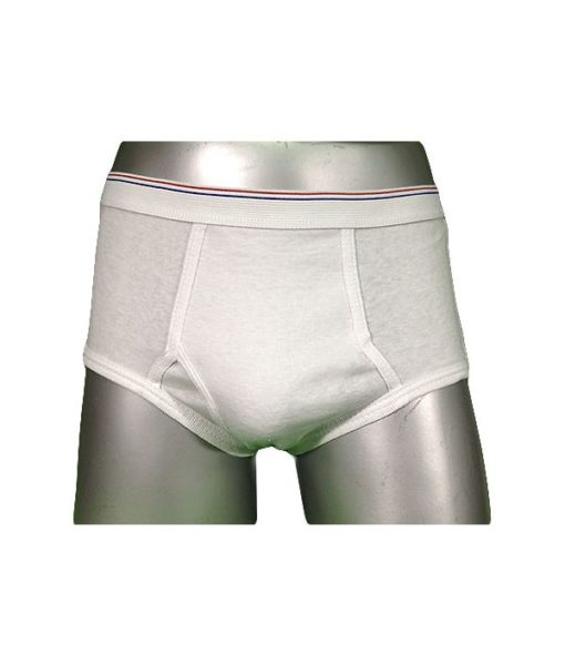 Boy's Fly Front White Brief